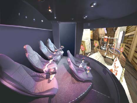 Interior: The Hitachi Interactive Ride Simulator running Contraptations!