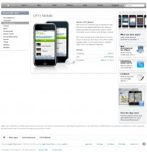 LP33 Mobile in Apple Web App Directory