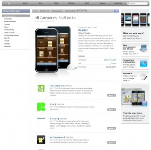 LP33 Mobile Web App Featured As Apple Staff Pick