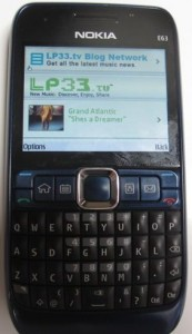 LP33.TV App Running on Nokia E63 Smartphone