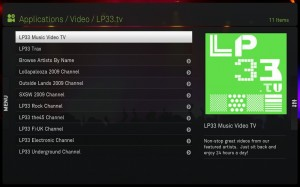 LP33.TV App Main Menu